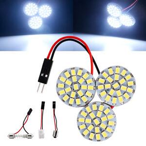 10Pcs 1206 66SMD T10 BA9S Festoon Panel Lights LED Car Interior Dome Light Bulbs