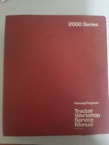 Massey 2000, 2005 Series 2640 2680 Workshop Manual Reprint electronic 1856170m1