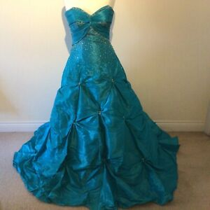 Stunning turquoise Mori Lee by Madeline Gardner dress prom wedding made in usa 8