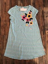 GYMBOREE NWT Mix N Match Stripe Flower Floral Knit Blue Dress Girls Size M 7 8