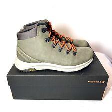 Merrell Ontario Mid Hiking Boots Men's Size 11 Olive Green J53209 Vibram