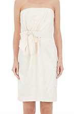 LANVIN Cotton-Blend Embroidered Strapless Dress SZ 36 = Fit US XS - RT $7.8K+Tx