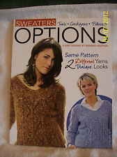 OPTIONS~Sweaters~5 Knit Designs~Tunic~Cardigan~Pullover~2005~Instructions~NEW!