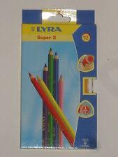 Assortiment 12 crayons couleur super 3 (mine:diamètre 4mm) (marque:lyra)