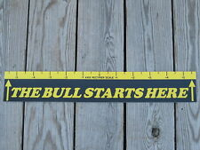 "Dart Board Throw Line Marker "" The Bull Starts Here """