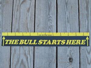 "Dart Board Throw Line Marker "" The Bull Starts Here """