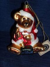 Nib! Boyds Glass Smith Collection Glass Teddy Bear Ornament 87-98