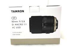 New Tamron SP 90mm f/2.8 Di Macro VC USD Lens - NIKON F Mount [F017]