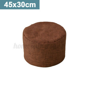Solid Color FootStool Bean Bag Cover Ottomans Round Chair Cover without Filling