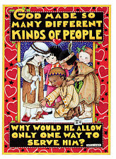 Mary Engelbreit-So Many Different Kinds Of People Good Will Holiday Card-New!