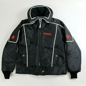 Vintage 1985 Yamaha Snowmobile Winter Lined Jacket Womens Small Canada