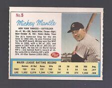 1962 POST NO. 5 MICKEY MANTLE  (ADD BACK)  BLAZER