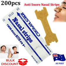 200PCS Anti Snore Nasal Strips to help Breathe Right Breathe Better Stop Snoring
