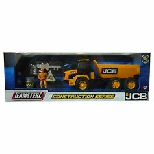 Teamsterz JCB Dumper Truck Construction Toy Set With Figure & Accessories NEW