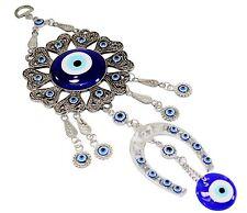 Turkish Blue Evil Eye Horseshoe Amulet Wall Hanging Decor Blessing Protection