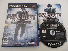 CALL OF DUTY WORLD AT WAR FINAL FRONTS - SONY PLAYSTATION 2 PS2 PAL FR COMPLET
