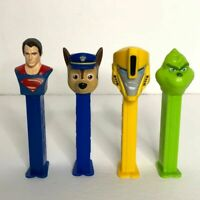 Pez Dispensers Mixed Lot of 4 Collectibles Superman Grinch and More