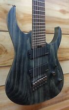 New Ibanez RGIF7 Iron Label Multi Scale 7 String Electric Guitar Black Stained