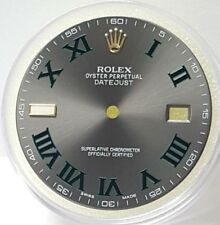 AUTHENTIC NEW 41MM MENS ROLEX DATEJUST 2 DIAL GRAY SLATE DIAL W. GREEN STICKS