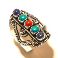 Beautiful Turquoise Free Shipping Silver Plated Gemstone Ring Jewellery Wp530