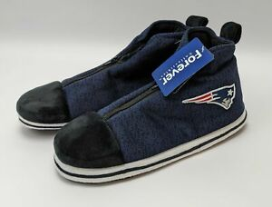 NFL New England Patriots Forever Collection Medium Slipper Booties w/ Zipper