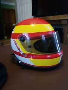 Vintage Snell SA85 IndyCar Cart Helmet with headset. Simpson Race Worn