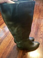 Nine West Women's Tall Boots Black Leather 9.5M Wide Calf EUC!