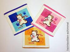 SET 3 tlg bunte Kinder Waschlappen Seiftuch Seiftücher Kinderwaschlappen TEDDY