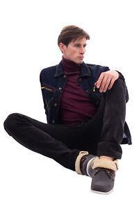 RRP €105 SUPERGA Felt & Faux Fur Deck Shoes Size 41 UK 7 US 8 Logo Apron Toe