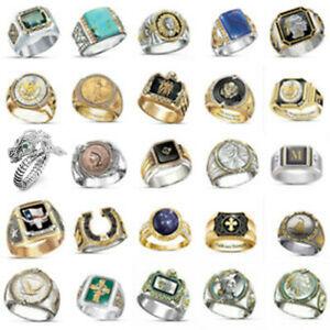 Men's Buffalo 925 Silver Animal Band Ring Women Wedding Party Jewelry Size 6-13