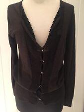 DRIES VAN NOTEN Sweater Cotton Wool Blend Sequin Cardigan Top Small