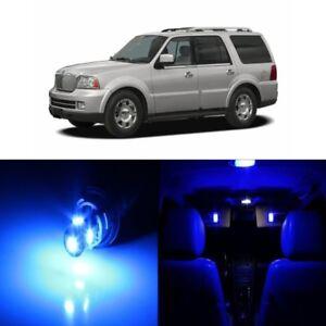14 x Blue Interior LED Lights Kit for 2003 - 2006 Lincoln Navigator + TOOL