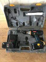 Good used boxed Ryobi 18v cdi 1801 hammer drill plus charger and 2 batteries.