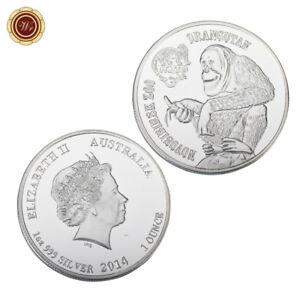 WR 2014 Australia NOVOSIBIRSK ZOO Orangutan .99 Fine SILVER Coin Queen Elizabeth