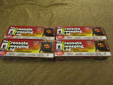 ( 4 )THE CREOSOTE SWEEPING LOG 2hr Burn Treats Cleans Build-up Fireplaces Stoves
