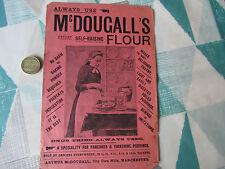 Vintage Original McDOUGALLS Flour Corn City Mills MANCHESTER Advertising Leaflet