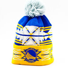 NBA Golden State Warriors Beanie Blue and Gold One Size Fits All Acrylic Poly