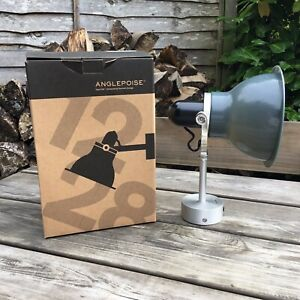 New Boxed Anglepoise 1228 Wall Light Granite Grey Shade Silver Fitting