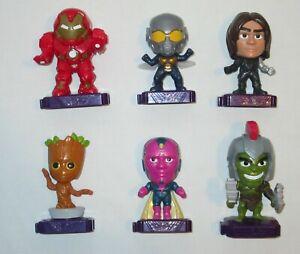 Mcdonald's Happy Meal Toys Marvel Studios Heroes Lot of 6 Hulk Groot Vision Etc