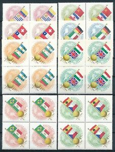 [PG10106] Hungary 1962 Football good set in block of 4 stamps very fine MNH