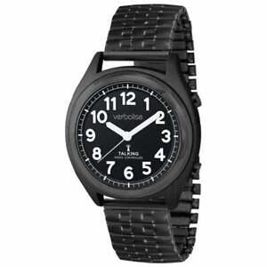 Verbalise Talking Watch with Black Expanding Strap VBK91-EBK