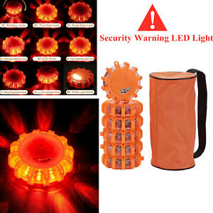 6PCS Magnetic LED Emergency Beacon Roadside SOS Flare Road Safety Strobe Lights