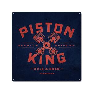 Metal Tin Sign piston king  Bar Pub Vintage Retro Poster Cafe ART 30*30 cm