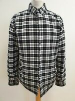 K131 MENS ZARA MAN BLACK WHITE CHECK COTTON LUMBERJACK SHIRT JACKET UK M EU 50