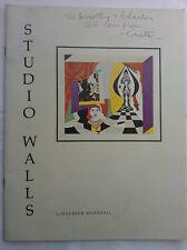 MAUREEN MARSHALL.STUDIO WALLS.1ST/1 S/B 1974,B/W,COLOUR PRINTS,RARE
