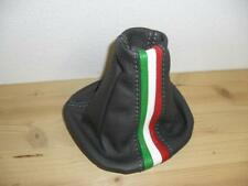 Headphone gear lever Fiat Panda 319 real leather anthracite+tricolor