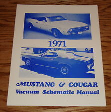 1971 Ford Mustang & Mercury Cougar Vacuum Schematic Manual 71
