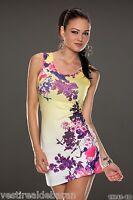 Miniabito Vestitino Donna Abito Vestito 2098-C098 Tg S/M L/XL