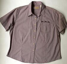 Vintage Wrangler Womens Western Shirt- Purple Gingham Cotton -Rockabilly-Size XL