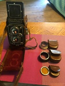Vintage Rolleiflex Synchro Compurn Franke & Heidecke Germany TLR Camera Parts